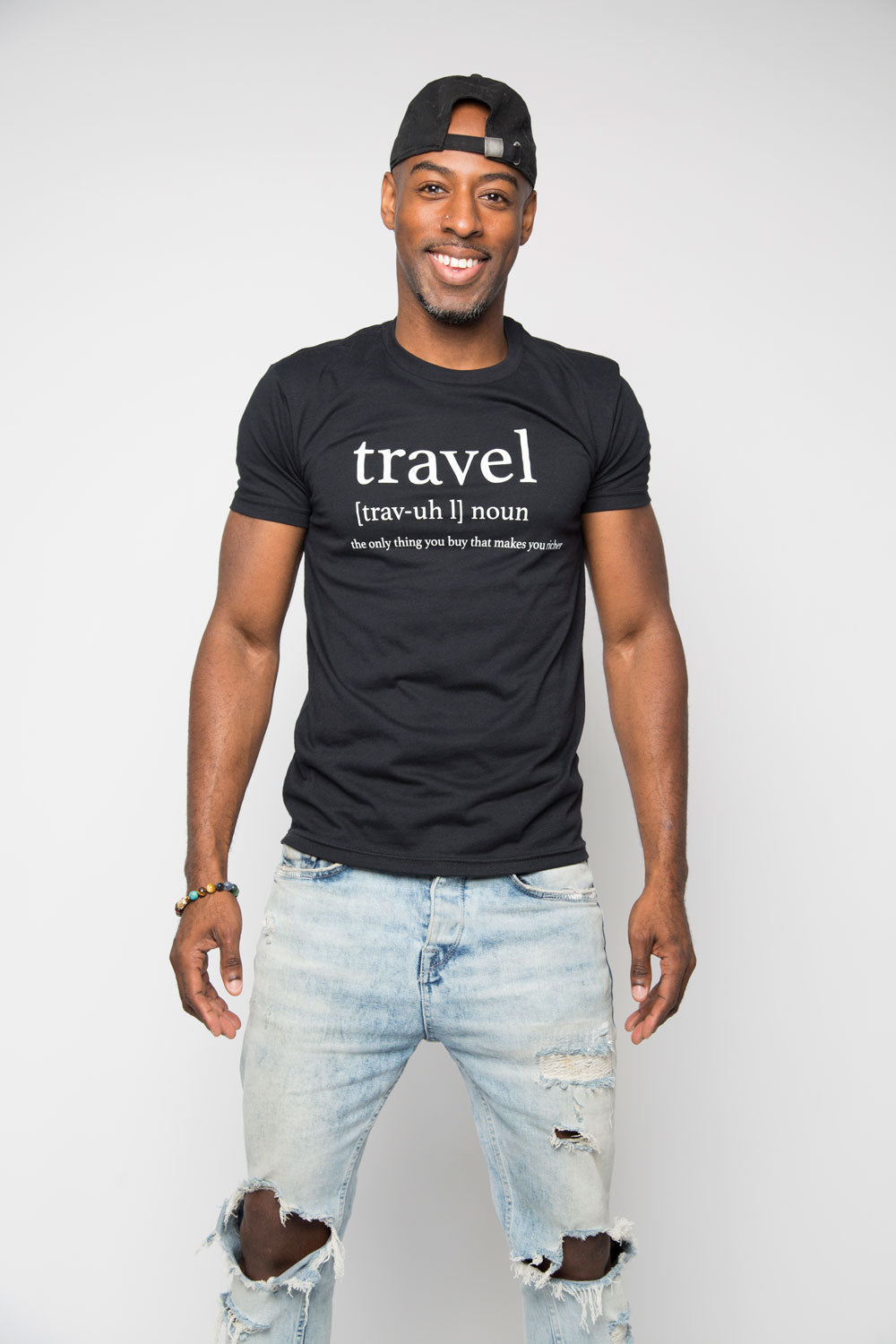 Travel Definition Shirt in Black - Trunk Series, LLC