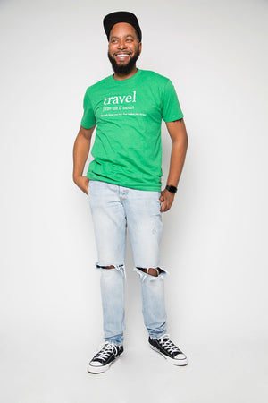 Travel Definition Shirt in Green - Trunk Series
