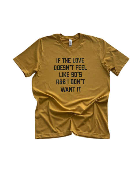 90's Love Shirt in Mustard - Trunk Series, LLC