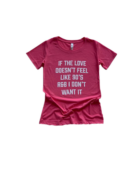 90's Love Shirt in Pink - Trunk Series, LLC
