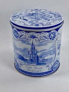 Delfts blue stroopwafel gift tin - Big Bite Dutch Treats