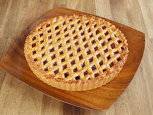 Load image into Gallery viewer, Linzer taart - Linzer fruit pie on wooden plate - Big Bite Dutch Treats