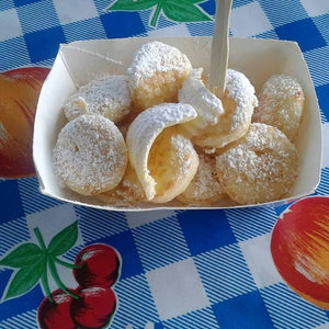 little dutch pancakes served with icing sugar and butter  - Big Bite Dutch Treats