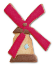 Load image into Gallery viewer, windmill cookie made with 8.5c cutter - Big BIte Dutch Treats