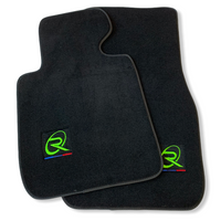 Black Floor Mats For BMW 7 Series E65 ROVBUT Brand Tailored Set Perfect Fit Green SNIP Collection