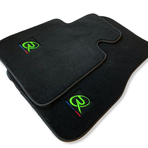 Floor Mats For BMW 3 Series F30 F31 LCI ROVBUT Brand Tailored Set Perfect Fit Green SNIP Collection