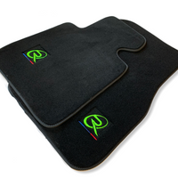 Floor Mats For BMW 6 Series F12 F13 ROVBUT Brand Tailored Set Perfect Fit Green SNIP Collection