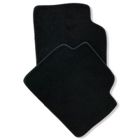 Black Floor Mats For BMW 3 Series E93 LCI ROVBUT Brand Tailored Set Perfect Fit Green SNIP Collection