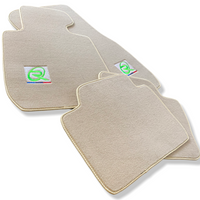 Beige Floor Mats For BMW 3 Series F34 GT (2012-2017) ROVBUT Brand Tailored Set Perfect Fit Green SNIP Collection