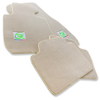 Beige Floor Mats For BMW 3 Series G20 and G21 ROVBUT Brand Tailored Set Perfect Fit Green SNIP Collection
