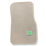 Beige Floor Mats For BMW 2 Series F45 F46 ROVBUT Brand Tailored Set Perfect Fit Green SNIP Collection