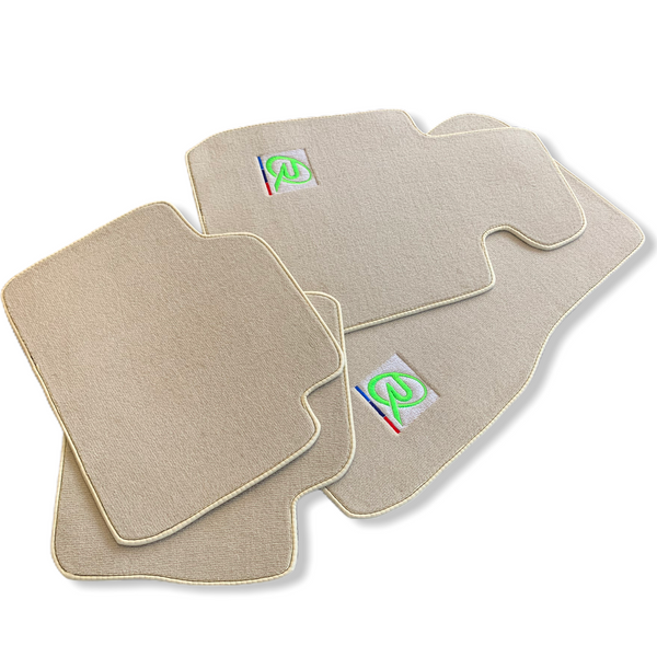 Beige Floor Mats For BMW 3 Series E93 LCI ROVBUT Brand Tailored Set Perfect Fit Green SNIP Collection