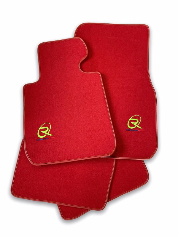 Red Floor Mats For BMW X4M Series F98 ROVBUT Brand Tailored Set Perfect Fit Green SNIP Collection