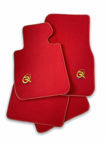 Red Floor Mats For BMW 3 Series G20 and G21 ROVBUT Brand Tailored Set Perfect Fit Green SNIP Collection