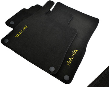 Floor Mats For Mercedes-Benz CLK-Class C209 (2002-2009) with AutoWin.eu Golden Logo