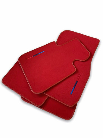 Red Floor Mats For BMW 7 Series E66 With M Package AutoWin Brand
