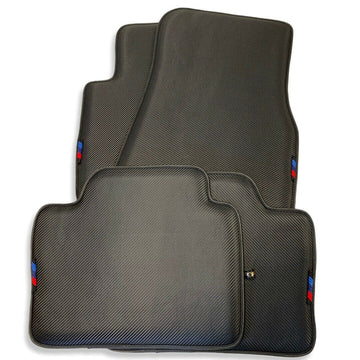 Floor Mats For BMW X7 Series G07 AutoWin Brand Carbon Fiber Leather