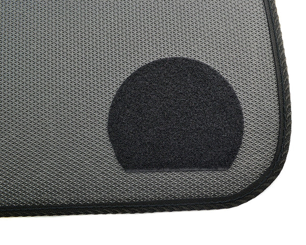 Black Floor Mats For BMW 3 Series G20 and G21 ROVBUT Brand Tailored Set Perfect Fit Green SNIP Collection