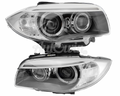 BMW 1 SERIES E82 E88 LCI BI-XENON ADAPTIVE HEADLIGHTS # 63117273837 # 63117273838