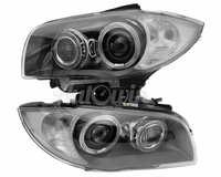 BMW 1 SERIES E81 E82 E87 E88 BI-XENON AHL HEADLIGHT SET # 63117181294 # 63117181293