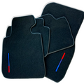 Black Floor Mats For BMW M8 Series Gran Coupe F93 With Color Stripes Tailored Set Perfect Fit