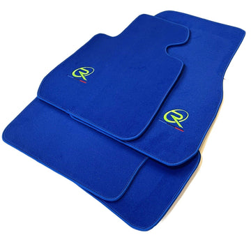Blue Floor Mats For BMW 3 Series G20 and G21 ROVBUT Brand Tailored Set Perfect Fit Green SNIP Collection