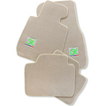 Beige Floor Mats For BMW 7 Series G11 ROVBUT Brand Tailored Set Perfect Fit Green SNIP Collection