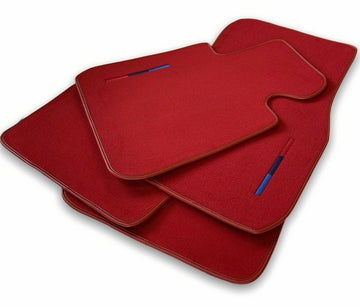 Red Floor Mats For BMW M5 Series F90 With M Package AutoWin Brand