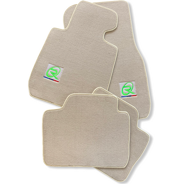 Beige Floor Mats For BMW M8 Series Gran Coupe F93 ROVBUT Brand Tailored Set Perfect Fit Green SNIP Collection
