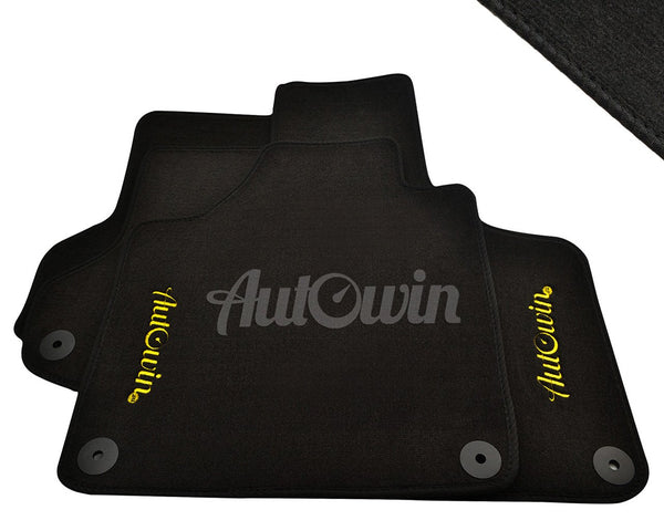Floor Mats For Audi A5 B8 with AutoWin.eu Golden Logo