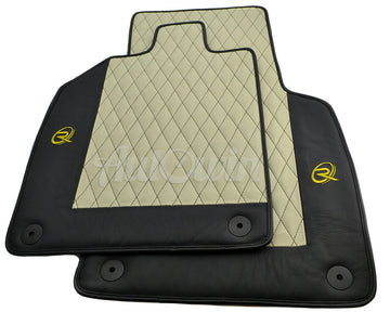 Floor Mats for Audi R8 1nd Gen 2007-2014 Leather Tailored ROVBUT Limited Edition