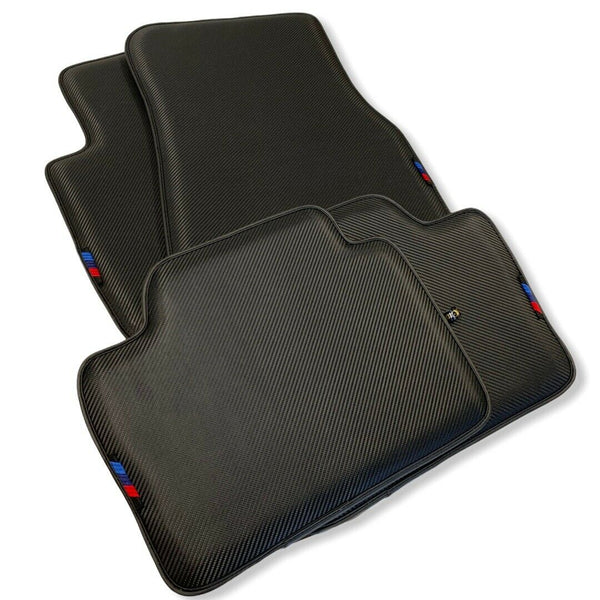 Floor Mats For BMW X5 Series G05 AutoWin Brand Carbon Fiber Leather