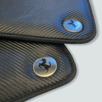 Floor Mats For Ferrari California Convertible 2008-2014 Carbon Fiber Leather