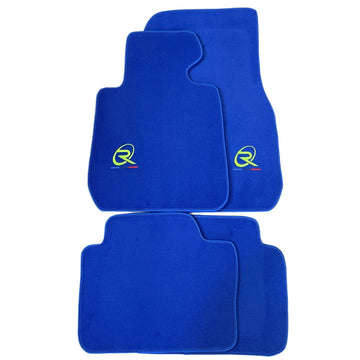 Blue Floor Mats For BMW X1 Series F48 ROVBUT Brand Tailored Set Perfect Fit Green SNIP Collection