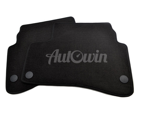 Floor Mats For Mercedes-Benz GLC-Class X253 (2016-Present) with AutoWin.eu Golden Logo