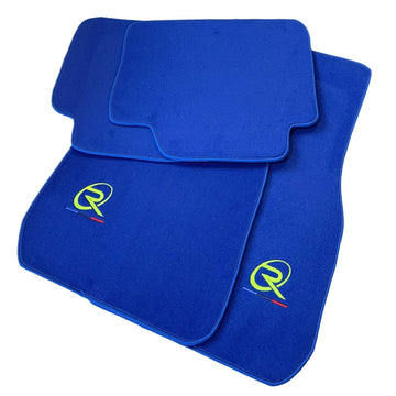 Blue Floor Mats For BMW 1 Series F52 ROVBUT Brand Tailored Set Perfect Fit Green SNIP Collection