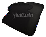 Black Floor Mats For BMW 4 Series F36 Gran Coupe With 3 Color Stripes Tailored Set Perfect Fit