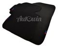 Black Floor Mats For BMW X7 Series G07 With 3 Color Stripes Tailored Set Perfect Fit