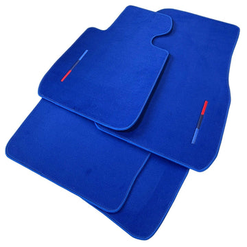 Blue Floor Mats For BMW 7 Series G11 With M Package AutoWin Brand