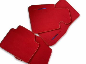 Red Floor Mats For BMW 7 Series E65 With M Package AutoWin Brand