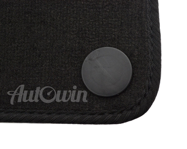 Floor Mats For Mercedes-Benz SL-Class R230 (2001-2009) with AutoWin.eu Golden Logo