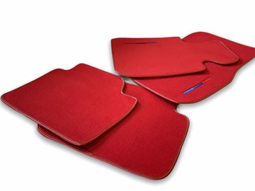 Red Floor Mats For BMW M8 Series Gran Coupe F93 With M Package AutoWin Brand