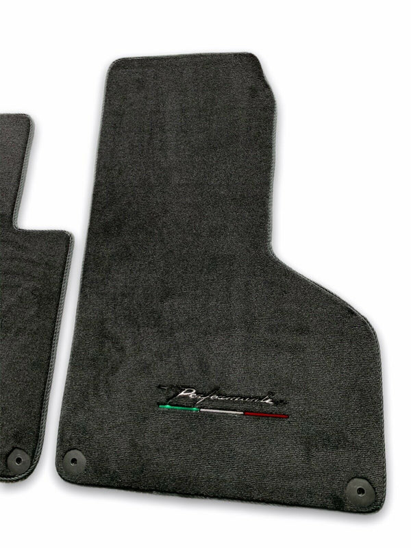 Floor Mats for Lamborghini Huracan With Italian Flag and Perfomante Logo