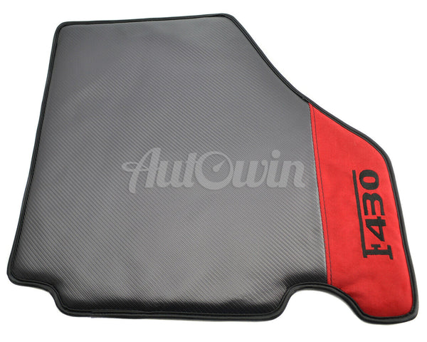 Floor Mats For Ferrari F430 2004-2009 Carbon & Alcantara Leather F430 Emblem