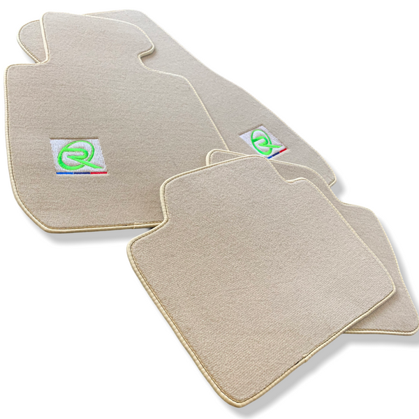 Beige Floor Mats For BMW X7 Series G07 ROVBUT Brand Tailored Set Perfect Fit Green SNIP Collection