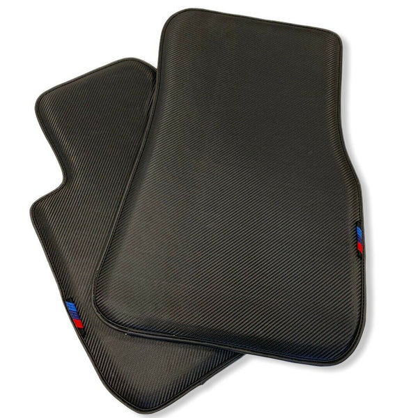 Floor Mats For BMW X4M Series F98 AutoWin Brand Carbon Fiber Leather