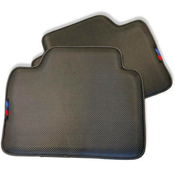 Floor Mats For BMW M8 Series Gran Coupe F93 AutoWin Brand Carbon Fiber Leather