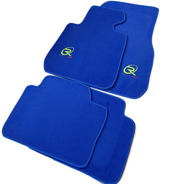 Blue Floor Mats For BMW X4 Series F26 ROVBUT Brand Tailored Set Perfect Fit Green SNIP Collection