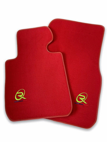 Red Floor Mats For BMW Z4 Series E89 ROVBUT Brand Tailored Set Perfect Fit Green SNIP Collection