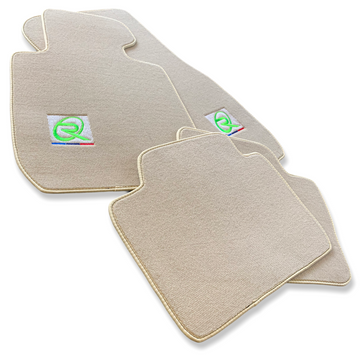 Beige Floor Mats For BMW X1 Series F48 ROVBUT Brand Tailored Set Perfect Fit Green SNIP Collection